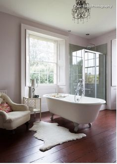 Beautiful Bathrooms Letchworth bathroom - high ceilings and claw foot tub- i love this bathroom