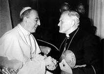 19 Con el cardenal del Perú, Juan Landazuri Riketts