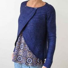 Madelinetosh Tosh Patterns - Fall Away Cardigan Pattern - Large Photo at Jimmy Beans Wool How To Purl Knit, Cardigan Pattern, Knit Cardigan, Hand Dyed Yarn, Knit Or Crochet, Sewing Clothes, Refashion, Pulls, Knitting Patterns