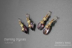 Swarovski Pendants Earrings Tutorial  Charming by SidoniasBeads