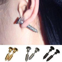 Silver Screw Earrings