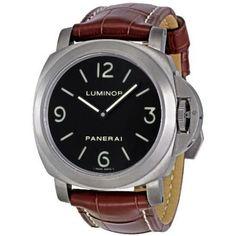 Panerai Men's PAM00176 Luminor Base Black Dial Watch