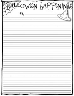 Free Lined Writing Paper Free Halloween Lined Writing Paper Larger Lines For Younger .
