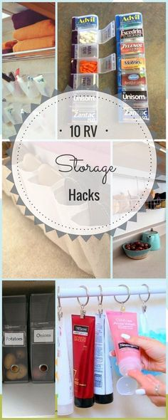 Looking for more ways for camper organization? 10 Ultimate Easy DIY RV and Camper Storage and Organization Hacks. Keep your RV or Camper clutter free, so you can enjoy your vacation more knowing your prepared and organized. Organisation En Camping, Travel Trailer Organization, Organisation Hacks, Organized Camping, Storage Organization, Organizing Ideas, Diy Storage Hacks, Easy Storage, Bathroom Organization