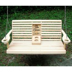 Unwind in your yard with this diy porch swing bench with cup holders i want a back porch swing so bad please convince my husband that i need this starlys pick your insert rollback armrest porch swing solutioingenieria Image collections