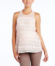 Take a look at this Blush Crochet Maternity Tank by Maternal America on #zulily today!