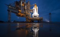 English: The Space Shuttle Atlantis is seen shortly after the rotating service structure (RSS) was rolled back at launch pad Thursday, July 2011 at the NASA Kennedy Space Center in Cape Canaveral, Fla. Nasa Spaceship, Nasa Astronauts, Atlantis, Jean Michel Jarre, Space Shuttle, Space Invaders, Space Telescope, Kennedy Space Center Florida, Cool Desktop Wallpapers