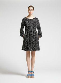 Anona-mekko (musta, luonnonvalkoinen) |Vaatteet, Naiset, Mekot ja hameet | Marimekko