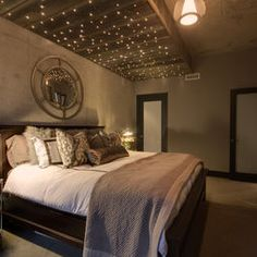 twinkle lights in the bedroom or kitchen...makes it feel like home