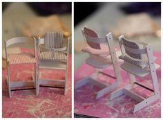 Nukkekoti Casablanca: DIY TrippTrapp -syöttötuoli - TrippTrapp highchair