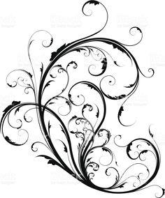 Декоративным орнаментом в виде завитков Сток Вектор Стоковая фотография