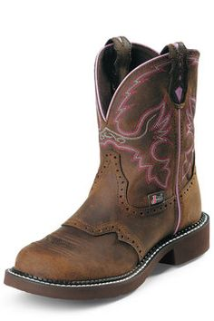 Justin Boots Aged Bark Cowgirl Boots