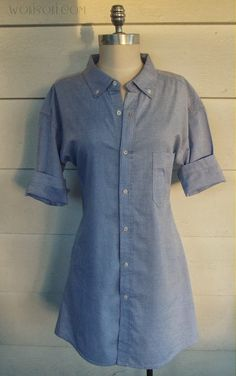 Make An Upcycled Shirt Dress | Fall Fashion Trends You Can DIY On The Cheap