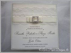 White Wedding Invitation/ Lace by LewisPaperDesigns on Etsy