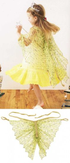 Fairy wings for child-knit pattern-free