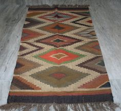 "Kilim Rug Turkish Village Hand Woven Kelim Rug Small 36 X 60""Inch Floor-Mate Rug #Turkish"