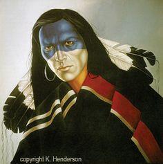 Native American Oil Paintings Jackson-K. Henderson ...