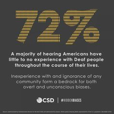 A lack of information can lead to harmful misconceptions. So what does it mean that 72% of hearing Americans have little to no experience with deaf people? Read more about the #HiddenBiases uncovered in a recent study.
