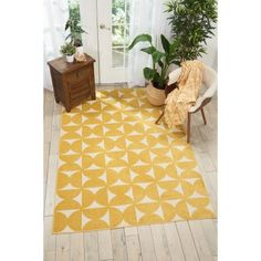 With its bold graphic prints and upbeat color palettes, the Harper collection of area rugs from Nourison is certain to energize any interior with its high-contrast color combinations and geometric patterns. Each rug is expertly powerloomed for easy care, Yellow Rug, Yellow Area Rugs, White Rug, Pink Rug, Ivory White, Color Yellow, Nourison Rugs, Kids Area Rugs, Modern Area Rugs