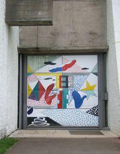 Le Corbusier Ronchamp, Doors Concrete and mural Le Corbusier, Alvar Aalto, Modern Architecture House, Architecture Design, Landscape Architecture, Mondrian, Vienna Wedekind, Modern Entrance Door, Bauhaus