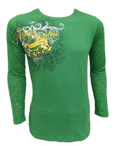 Green John Deere Tractor Princess Ladies Tee Shirt