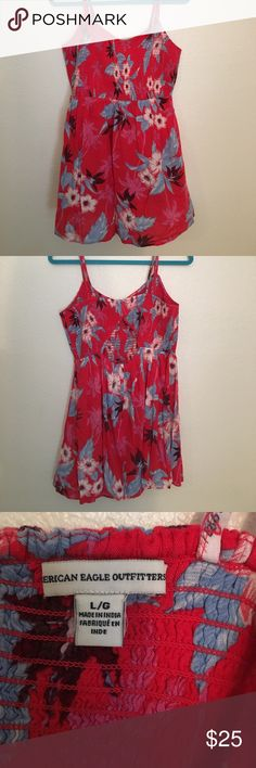 American Eagle Tropical Hawaiian Print Sundress American Eagle Tropical Hawaiian Print Sundress. Only worn once. Super lightweight and perfect for summer. Keyhole back. American Eagle Outfitters Dresses Mini
