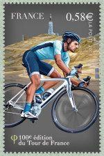 Le Mont ventoux Centième Tour de France - Timbre de 2013