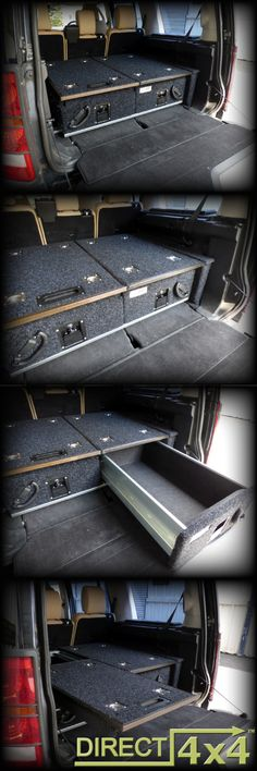 Direct 4x4 - Twin Drawer System fitted in a Discovery 3/4…