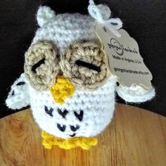 Check out my unique owl rattle! Inspired by Hedwig.