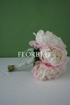 Peony Wedding Flowers | Pink Peony Wedding Bouquet | Floret.ca