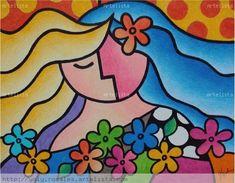 Mujer con flores