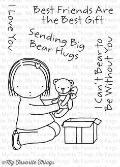 My Favorite Things - Clear Stamp - Pure Innocence Big Bear Hugs,$8.99
