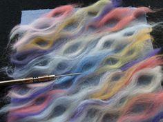 Paula Scaffidi's best-ever foundation courses for machine needle felting. undulating curves in fiber