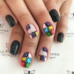 Patch work on garments is old. Simple Nail Art Designs, Easy Nail Art, Nail Designs, Nails Now, My Nails, Cute Nails, Pretty Nails, Quilted Nails, Art Deco Nails