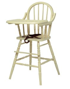 Wooden High Chair by Newport Cottage -- I want this!