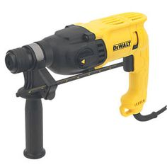 Dewalt D25033-SFLX 2kg SDS Plus Hammer Drill Compact, robust, 3-function hammer drill with multi-position side handle. Low vibration and high impact energy helps reduce working times. Rotary stop for light chiselling and impact stop for drilling http://www.MightGet.com/january-2017-13/dewalt-d25033-sflx-2kg-sds-plus-hammer-drill.asp