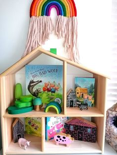 Toy Shelfie - Traditional Tales & Loose Parts - Busy Busy Learning Nursery Rhyme Crafts, Nursery Activities, Nursery Rhymes, Communication And Language Eyfs, Ikea Dollhouse, Toy Shelves, Traditional Tales, Book Baskets, Busy Busy