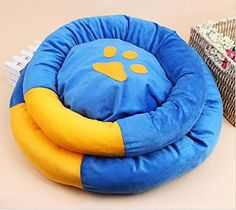 Beautylady 2 Layers Round Pet Bed Small Dog Cat Cushion Cozy Warm Machine Washable Stain Resistance Two colors * To view further for this item, visit the image link.