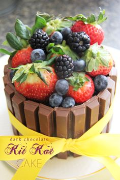 Kit Kat Chocolate Cake http://theurbanmrs.com/kitkat-chocolate-cake-for-sundaysupper/