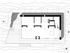 modernes wochenendhaus see lhvh  architekten grundriss
