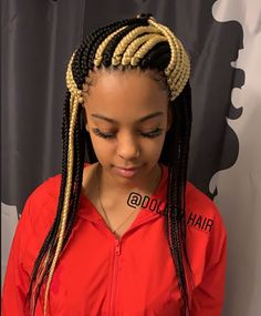 43 Cool Blonde Box Braids Hairstyles to Try - Hairstyles Trends Large Box Braids, Medium Box Braids, Short Box Braids, Jumbo Box Braids, Blonde Box Braids, Black Girl Braids, Braids For Black Hair, Box Braids Hairstyles For Black Women, African Braids Hairstyles