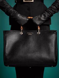 The FW 13-14 Gucci Bamboo Shopper Leather Tote..love love love..