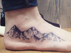 200+ Best Mountain Tattoos for Men (2020) Range, Geometric, Simple, Small Designs Cover Up Tattoos For Women, Best Cover Up Tattoos, Foot Tattoos For Women, Tattoos For Guys, Get A Tattoo, Back Tattoo, Tattoo Art, Men Tattoos With Meaning, Kiefer Tattoo