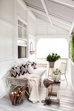 White cottage porch | Kara Rosenlund's home