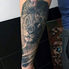 Male Lion Forearm Tattoo Ideas