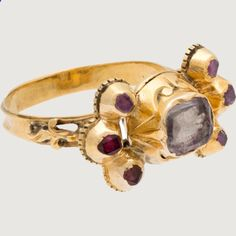 Marriage Rings - MARRIAGE RING Southern Europe or Latin America, late 18th century Gold, rock crystal with foil, rubies, black enamel - Marriage rings are the jewel in common between him and you, it is the alliance of a long future and an age-old custom. Think about it, this ring will age along with you so why not choose the best, most beautiful and durable?