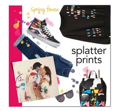 """""""Splatter Prints"""" by groove-muffin ❤ liked on Polyvore featuring Avon, Boutique Moschino, Vans and STELLA McCARTNEY"""
