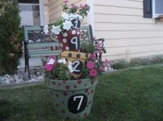 Tipsy Pots Polka Dot Planter
