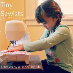 Tiny Sewists: Teaching Kids to Sew :: Lesson 2 | A Jennuine LifeA Jennuine Life