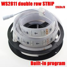 (46.38$)  Watch here - http://ain12.worlditems.win/all/product.php?id=32694107138 - 5M/lot IP67 tube waterproof double row led strip ws2811 pixel strip dc12v 120leds/m multicolor not need controller